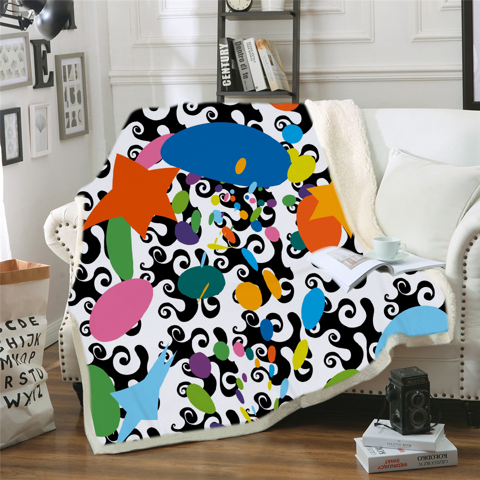 Cartoon Stitch Printed Home Textile Cartoon Blanket for Kids Gift Stitch Coral Fleece Blanket Throw on Bed Sofa Boys Dropship