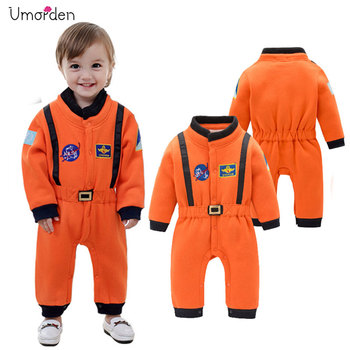 Umorden Astronaut Costume Space Suit Rompers for Baby Boys Toddler Infant Halloween Christmas Birthday Party Cosplay Fancy Dress infant toddlers baby boys girls raccoon cosplay costume for halloween christmas purim holiday dress up party