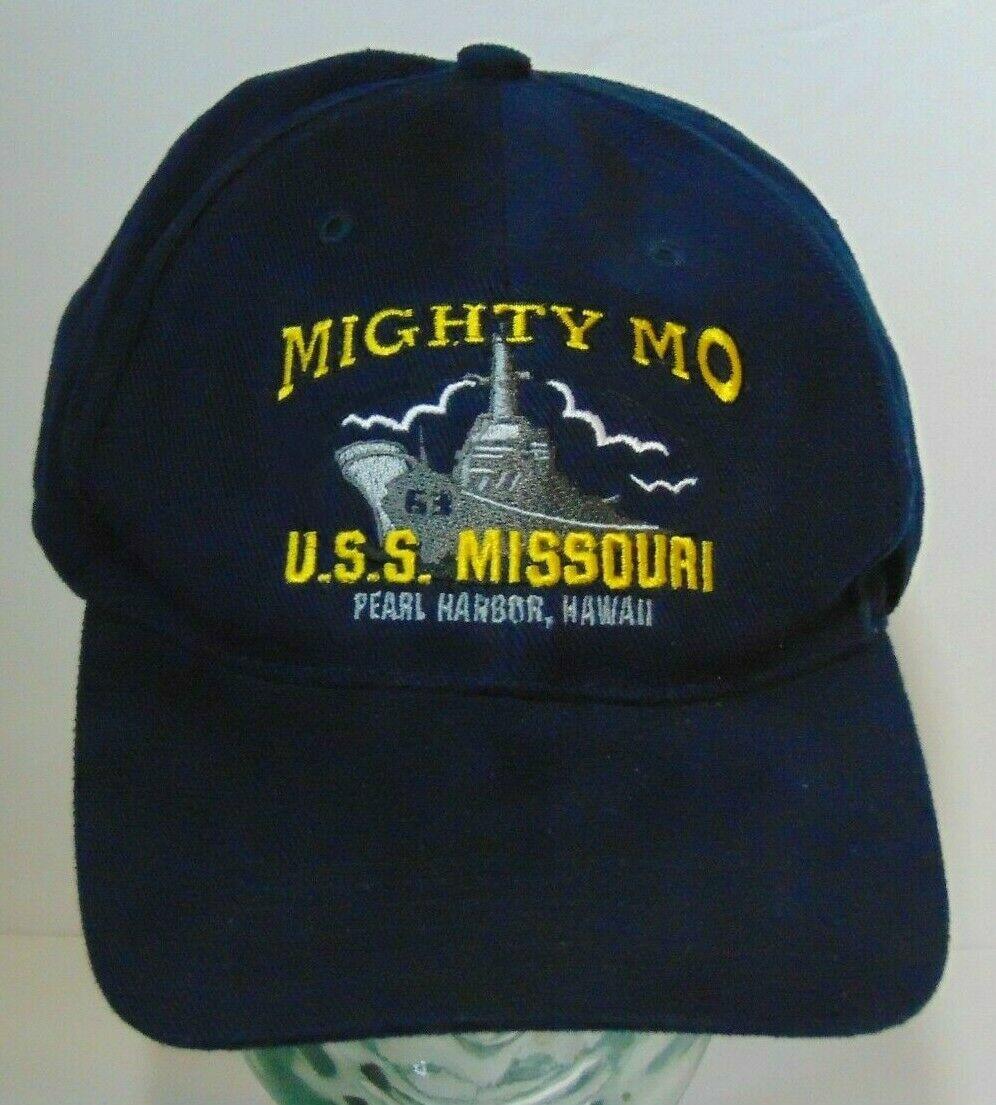Printed USA US-NAVY MIGHTY MO USS MISSOURI BB 63 PEARL HARBOR HAWAII ADJUSTABLE HAT CAP