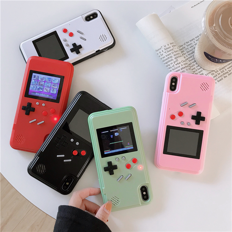 GB Gameboy Tetris Phone <font><b>Cases</b></font> for <font><b>Samsung</b></font> Galaxy <font><b>S10</b></font> Plus Note 10 Pro 10+ Note10 5G Game Console Cover Protection Gift <font><b>Case</b></font> image