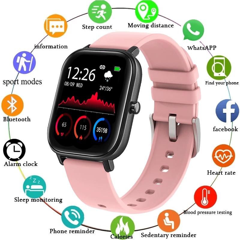 LIGE yeni IP68 su geçirmez SmartWatch kadın spor spor izci nabız monitörü Android IOS tam dokunmatik ekran erkekler Smartwatch
