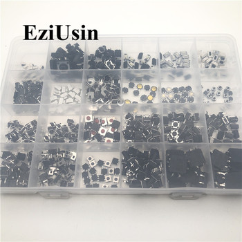 25 Models Diy Kit Switches Assorted Micro Push Button Tact Switch Reset Mini Leaf Switch SMD DIP 12*12 2*4 3*6 4*4 6*6 rotary switch hz5b 20 4 page 6