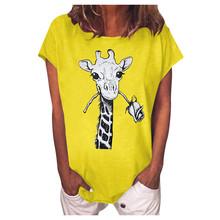 40 # t-shirty damskie Plus rozmiar kobiet z krótkim rękawem 3d zwierząt drukowane topy z okrągłym dekoltem Tee koszulki lato Casual Женские Футболки tanie tanio CN (pochodzenie) Dla osób w wieku 18-35 lat Na co dzień krótkie POLIESTER