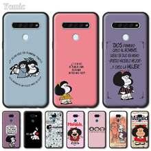 Mafalda Venda Quente Capa de Silicone Para LG Q61 Q60 Q70 Q51 K40 K40s K41s K50s K51s K61 G6 G7 G8 ThinQ Preto Macio Tampa Do Telefone