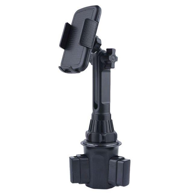 """車のカップホルダー電話マウント角度調整高さ 3.5 用スタンド 6.5 """"携帯電話"""