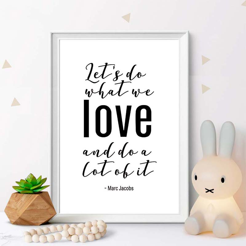 Wall Art Canvas Painting Minimalist Prints Black White Love Inspirational Quote Home Decor Modular Pictures Poster Living Room