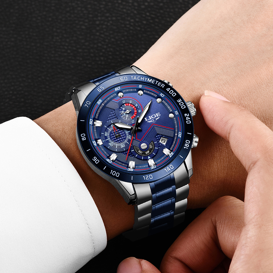 Hd1874953082d406b9e67af34b770bfcbX Relogio Masculino LIGE Hot Fashion Mens Watches Top Brand Luxury Wrist Watch Quartz Clock Blue Watch Men Waterproof Chronograph