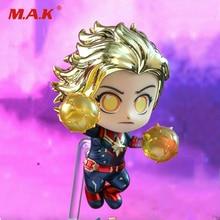 Hot Toys Bobble-Head Avengers Endgame Cosbaby Captain Marvel Gold Figure COSB591