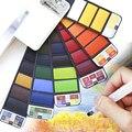 Акварельная краска 18/25/42 цветов s, акварельная краска, портативная однотонная Акварельная краска, набор пигментов для коридора акварели