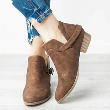цена на Discount Women Boots Spring/Autumn New Ankle Martin Boots Slip-On Round Toe Fashion Sneakers Casual Shoes Woman Plus Size 35-43