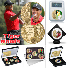 WR US Golfer Gold Plated Commemorative Coins Collectible Sports Golf Challenge Coin Souvenir Gifts for Boys Man