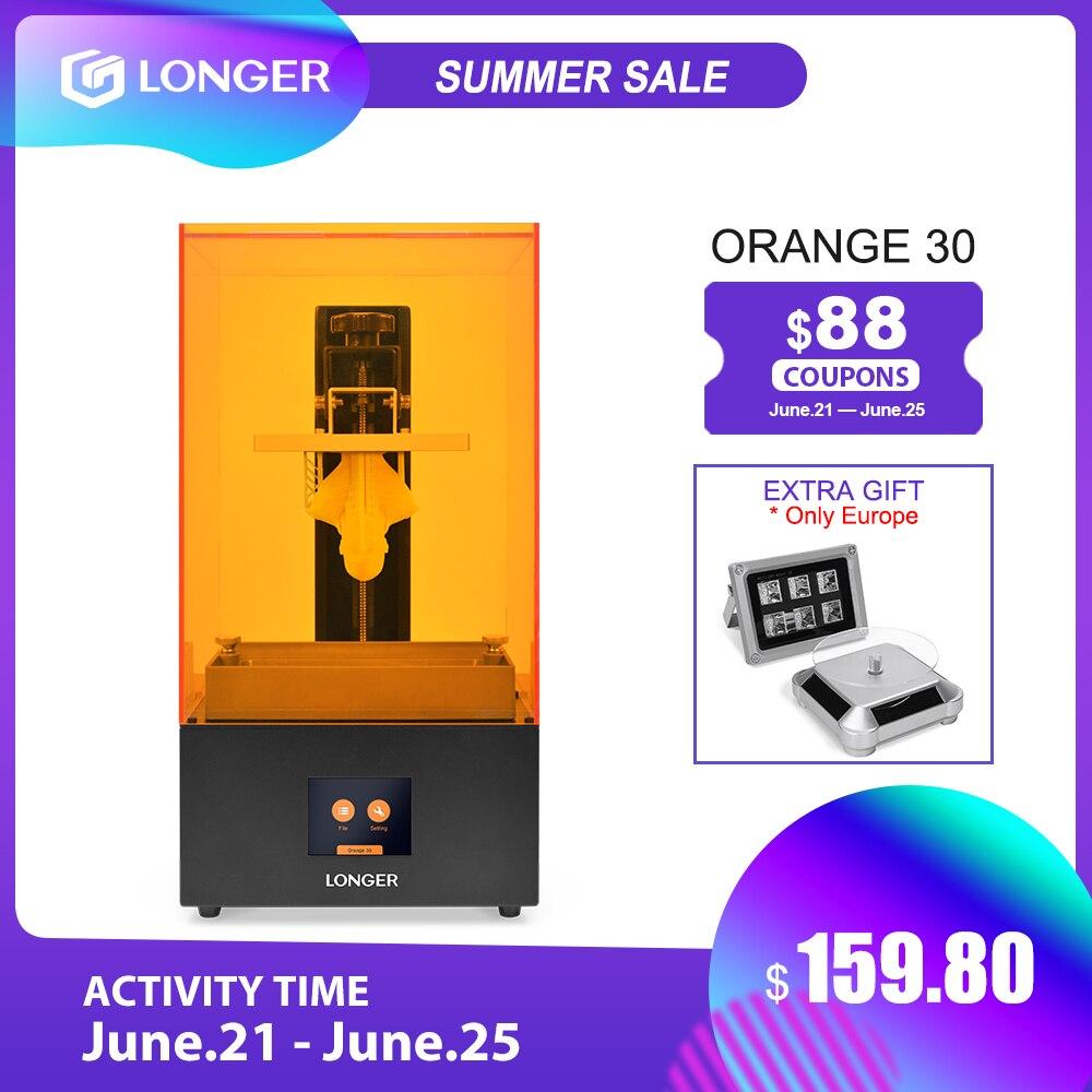 LONGER Orange 30 SLA 3D принтер с высокой точностью 2K LCD 3d printer kit 3d принтеры с полимерной матрицей UV LED полностью металлический корпус 3D Printer 3д принтер 3d...