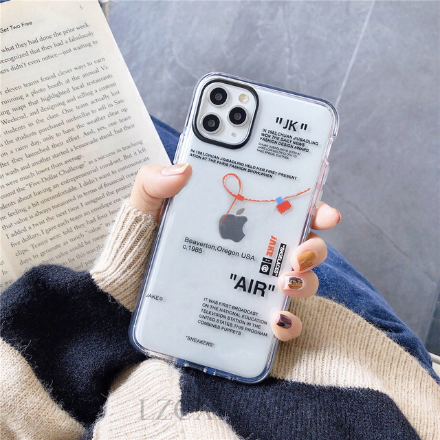 Hot Off Street sport Trend Brand clear Soft Silicon phone case for iPhone 11 Pro X XS MAX 12 mini 7 8 plus ins white label Cover 3