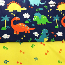 160cm*50cm cotton fabric dinosaur fabrics DIY Sewing Quilting bedding apparel Baby dress patchwork fabric kids handwork cloth