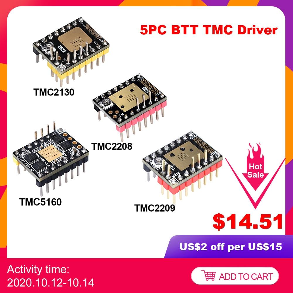 5PCS BIGTREETECH TMC2209 TMC2208 TMC2130 TMC5160 Stepper Motor Driver 3D Printer Parts For SKR V1.4 ramps 1.4 Mini e3 ender 3