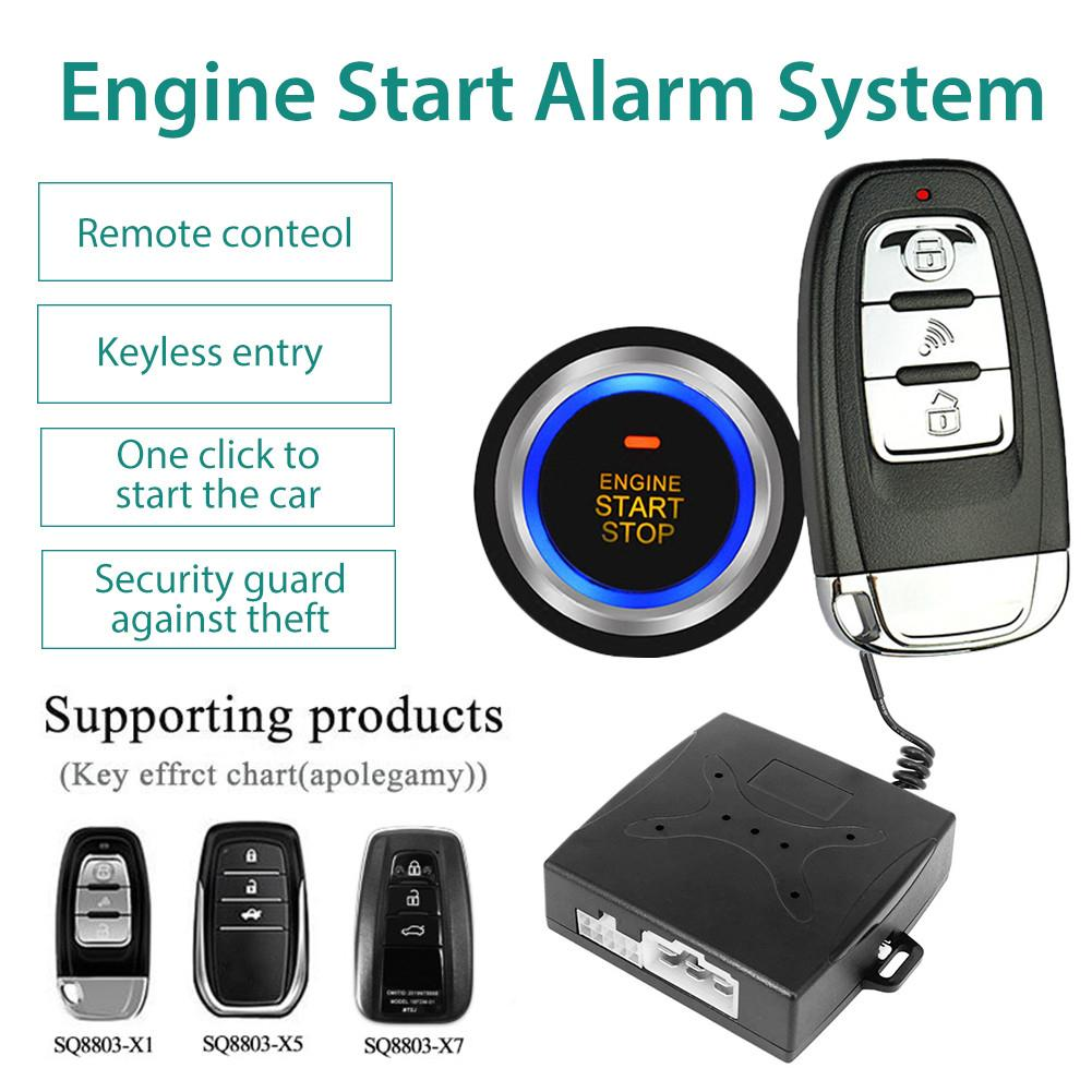 Anti-theft Keyless Start System Remote Alarm System Auto Car SUV Start Button Alarm Keyless Entry Starter Car Accessories 12V