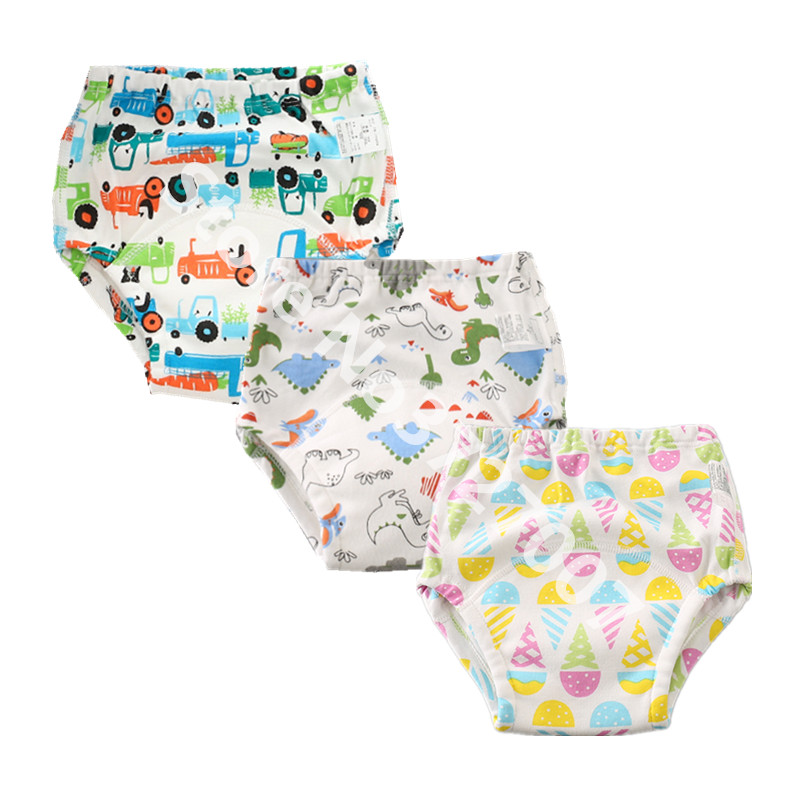 1Pcs Breathable Baby Cotton Training Pants Panties Cloth Diapers Reusable Nappies Diaper Waterproof Baby Underwear Washable