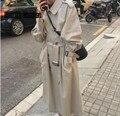 Koreanische Neue Zweireiher Winter Frau Graben Mantel Stlylish Anmutigen Weiblichen Kleidung Frauen Premium Roupas Feminina Mit Gürtel-in Trench aus Damenbekleidung bei