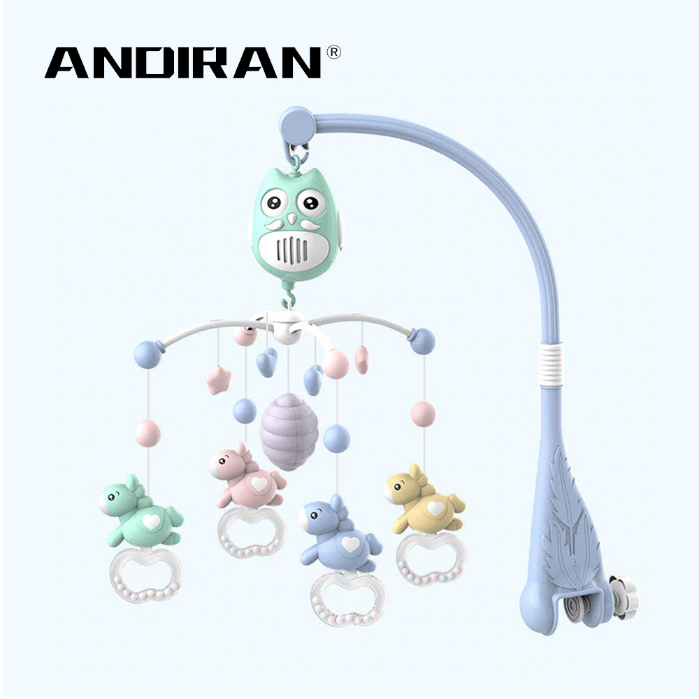 Baby Music Bed Bell Baby Toys Rattles Crib Mobiles Toy Holder Rotating Crib Bed Bell With Music Box 0-1 Y