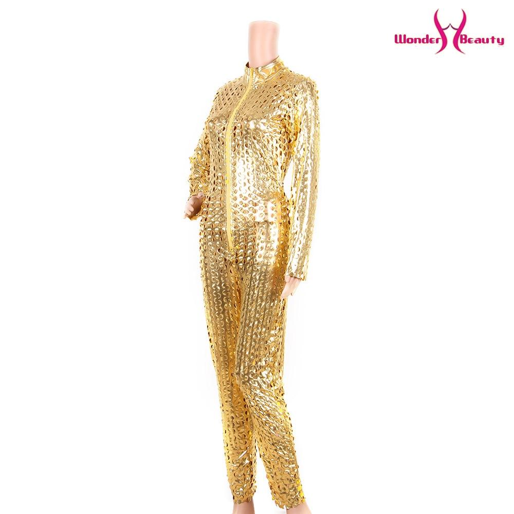 wetlook catsuit pu faux leather jumpsuit zentai costume women zipper front hollow out hole pole dance nightclub vinyl bodysuit (14)