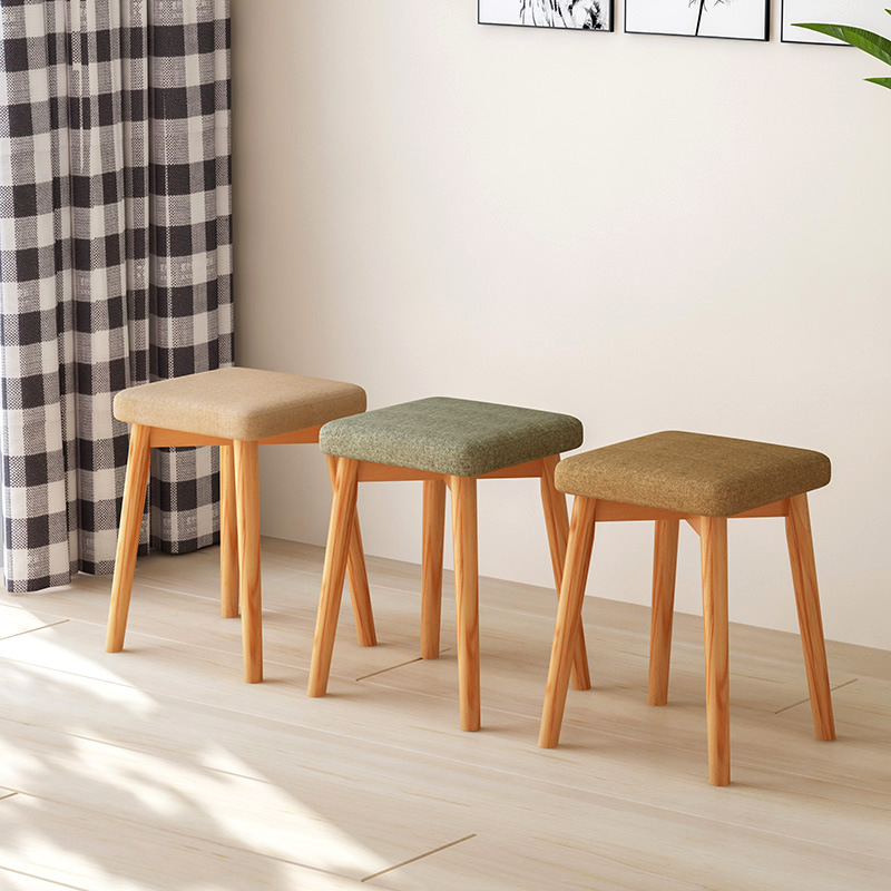 Fashion furniture home stool fashion creative small bench solid wood chair sofa stool round stool low stool square stool