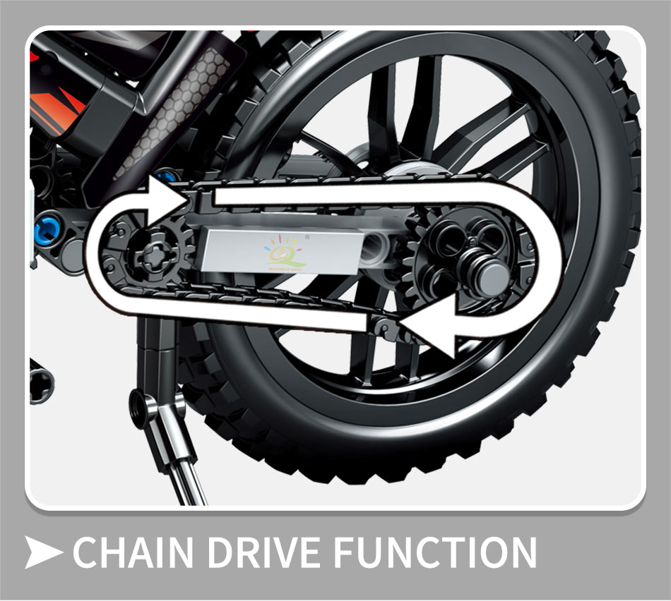 "конструктор huiqibao ""мотоцикл"", 481 шт."