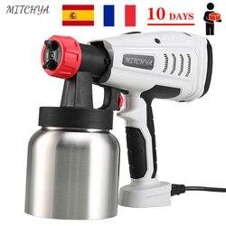 Airless Spray Gun 220V to 240V High Power 800W Electric Paint Sprayer 2 Nozzle Easy Spraying Sanitary Clinic Disinfection Spraye