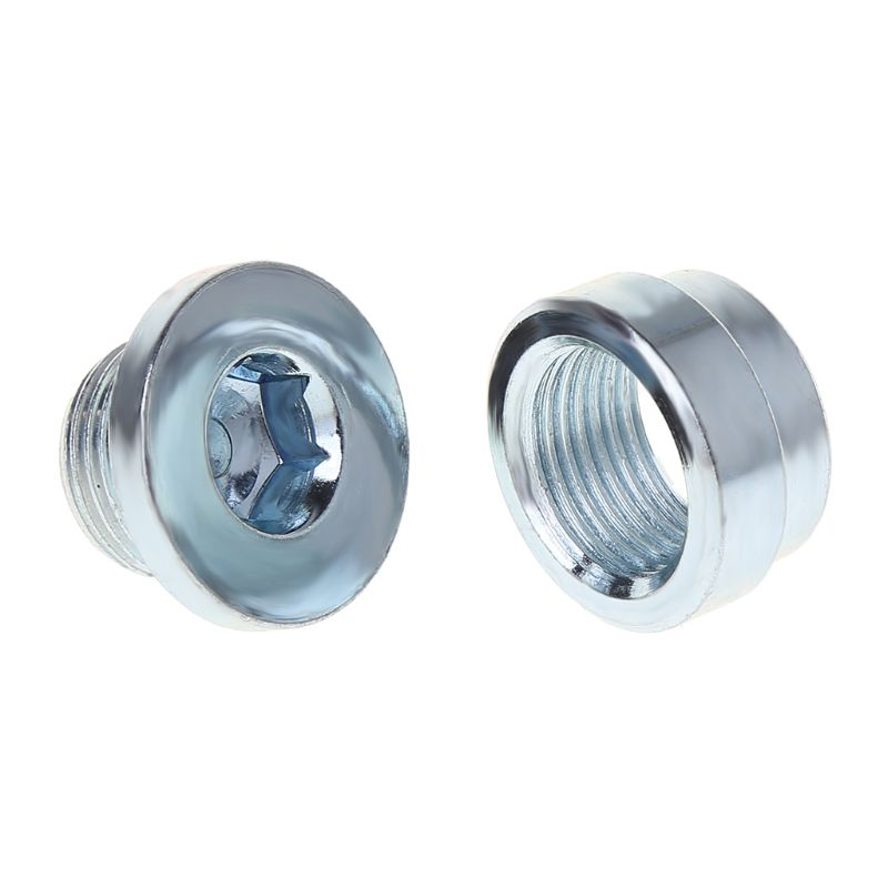 2PCS/Set O2 Oxygen Sensor Weld On Bung & Plug Wideband Nut & Cap Kit Stepped Nut Adapter