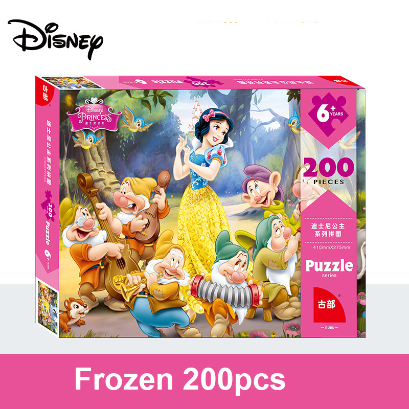 Disney Puzzle 200 Pieces Frozen / Snow White 200 Pieces / Children Puzzle Educational Toys 3D Paper Puzzles Children Toys Adult