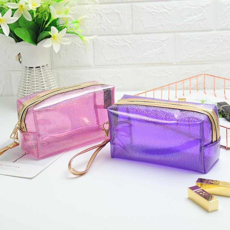 Large Capacity Transparent Candy Color Multifunctional Clutch Bag Travel  Hot Sale Makeup Bag Wash Bag  Cute Women Cosmetic Bag