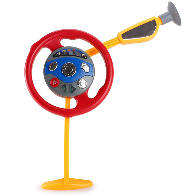bebe eletronico banco de tras motorista assento de carro volante criancas brinquedo musical ventosa conducao volante