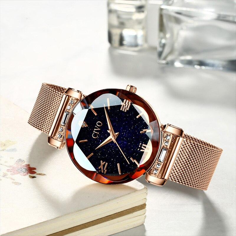Image 5 - CIVO fashion women watch luxury waterproof wrist watches for women crystal quartz watch 2019 ladies gift clock Relogio FemininoWomens Watches   -