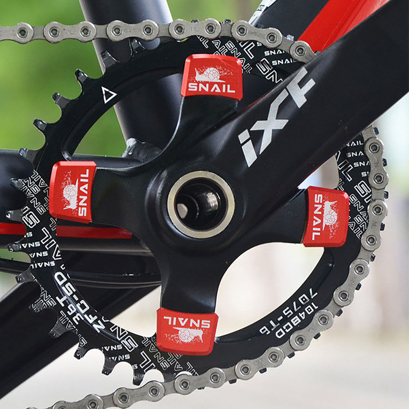 Aluminum Alloy Single Speed Chainring MTB Bike Crankset Chainring Square Bolts