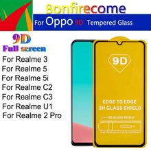 5Pcs\lot 9D Protective Glass Film Full Cover Screen Protector For OPPO Realme U1 C2 C3 5 5i Realme 2 3 Pro Realme5(China)