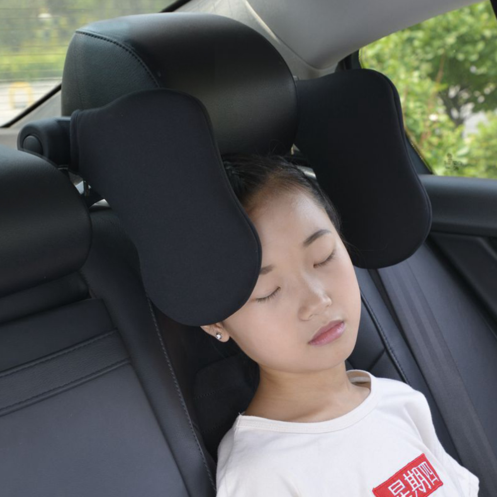 Car Seat Headrest Car Neck Pillow Sleep Side Head Support With High Elastic Nylon Retractable Support On Sides For Kids  amp  Adult
