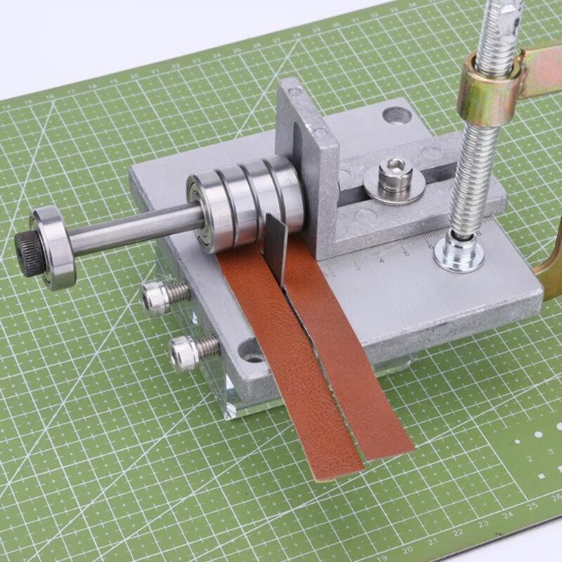1pcs Silver Handmade Leather Cutting Machine Belt Cutter Peeling Tool Diy Handmade Leather Cutting Tool