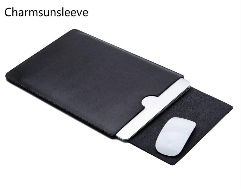 Charmsunsleeve для DELL Inspiron 3000 Series 11,2 14 15 17 Ультра-тонкий мешочек для ноутбука, кожаный чехол из микрофибры для ноутбука