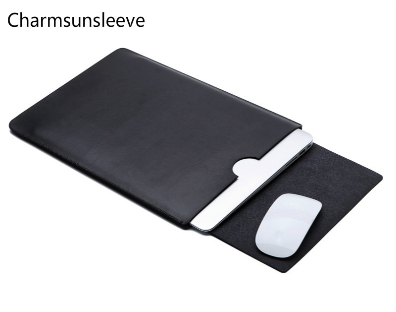Charmsunsleeve For Dell XPS 13 15(9350 9360 9370 9550 9560 <font><b>9570</b></font>) Laptop Ultra-thin Pouch Cover,Microfiber Leather Sleeve Case image