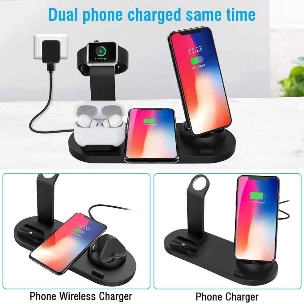 3 ב 1 תחנת טעינה עבור אפל שעון 5 4 3 Airpods פרו צ 'י 15W מהיר אלחוטי מטען Stand עבור iPhone 11 XS XR X 8 סמסונג S10