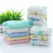 30*30 Six-layer 100% Cotton Newborn Washcloths Baby Gauze Small Square Handkerchief Infant Bibs Hooded Towel for Kid