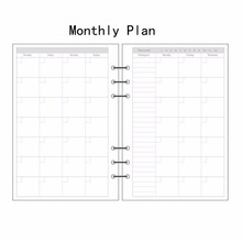 A5/A6/A7 Monthly Planner Diary Insert Refill Schedule Organiser Plan 45 Sheets a5 a6 a7 ruled planner diary insert refill notepad schedule organiser 45 sheets 6 holes for core inner hand account planner