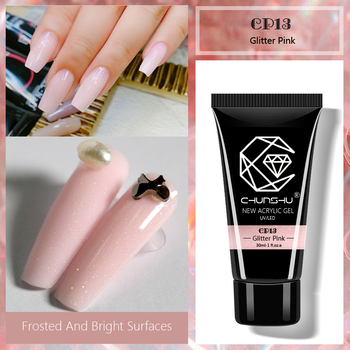CHUNSHU Poly Gel Nail Art Manicure Acrylic Poly UV Gel For Nails Extension Crystal LED Builder Gel Slip Solution Quick Extension gelike 60g uv gel poly gel nails polygels nails builder poligel nails extension acrylic nail art crystal uv resin builder