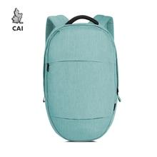 CAI Oval Design 14 inch Laptop Backpack Men/Women Fashion Back Bags Minimalism School Shoulder Shopping Bag Travel Preppy Style