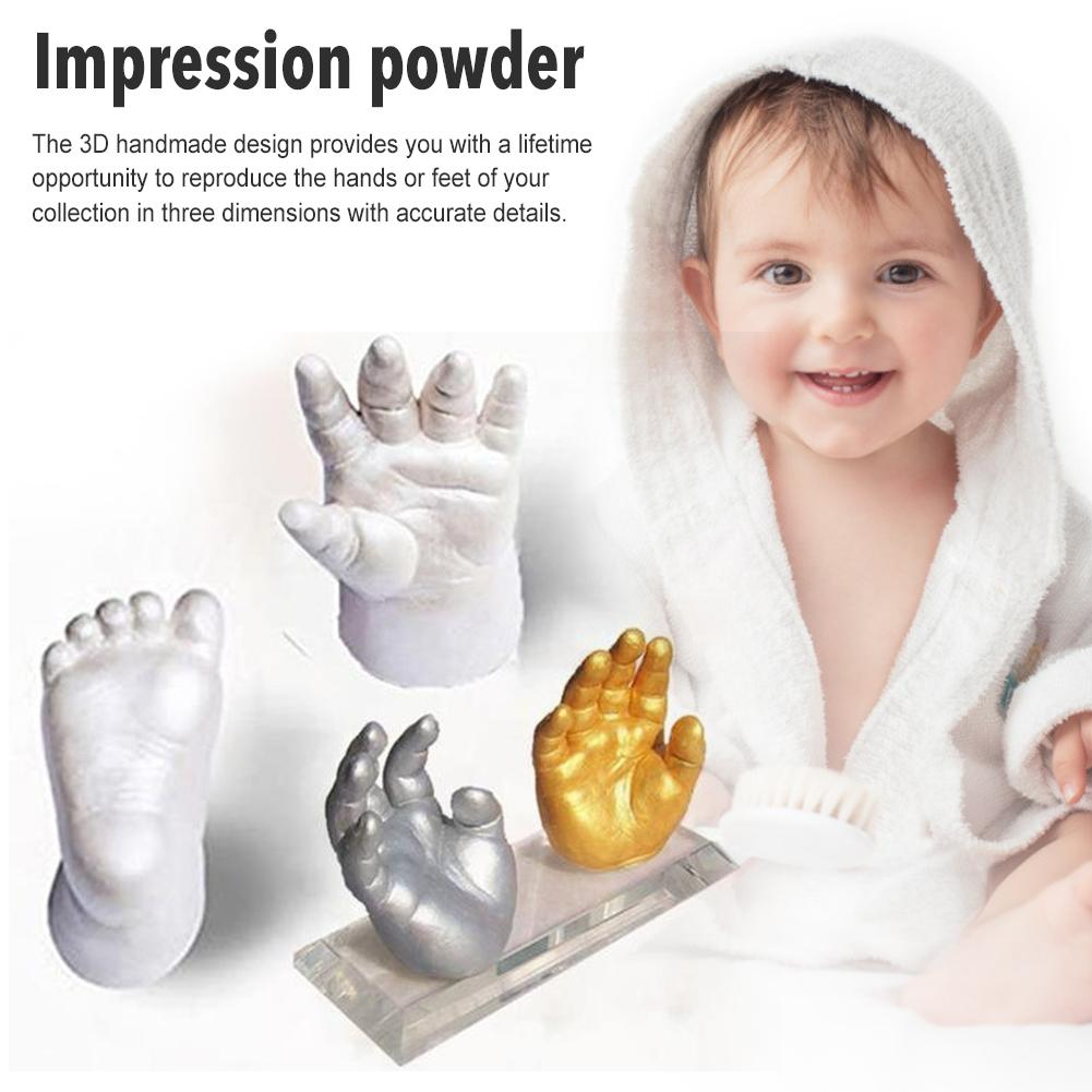 Baby Handabdruck Fußabdruck Kit 3D Gips Gießen Andenken Neugeborenen Baby Handabdruck Fußabdruck Tintenlosen Ungiftig Touch DIY Foto