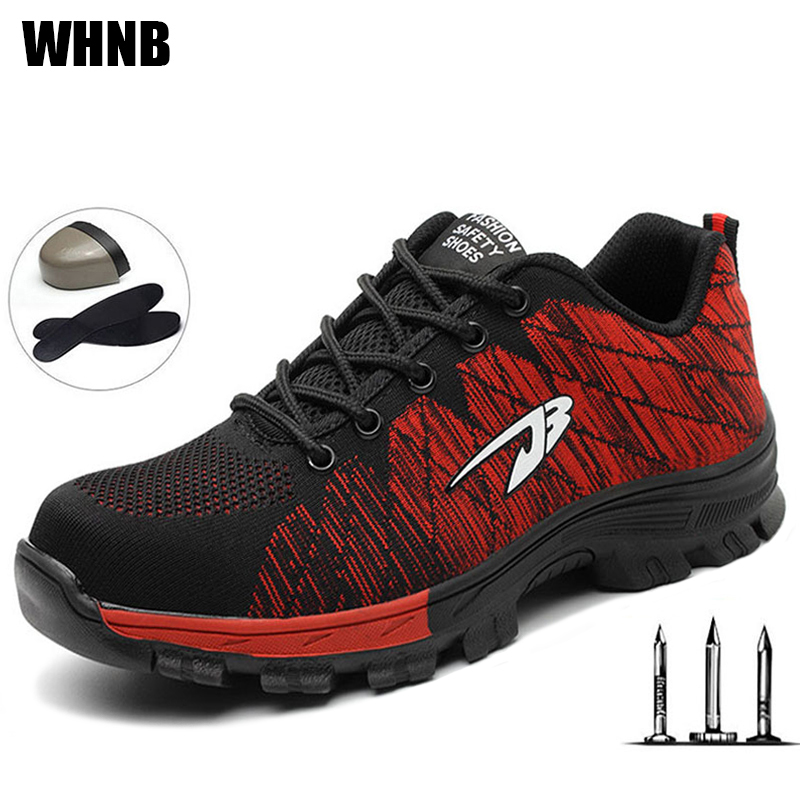 Men Safety Shoes Breathable Mountaineering Protective Shoes Steel Toe Caps Anti-slip Outdoor Work Boots Fashion Sports Shoes