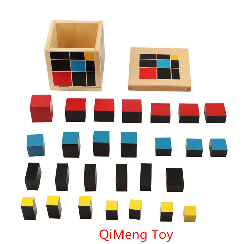 Купить с кэшбэком New wooden toy Baby Toy Montessori Algebraic Cube Early Childhood Education Preschool Training Math Kids Toys Free shipping
