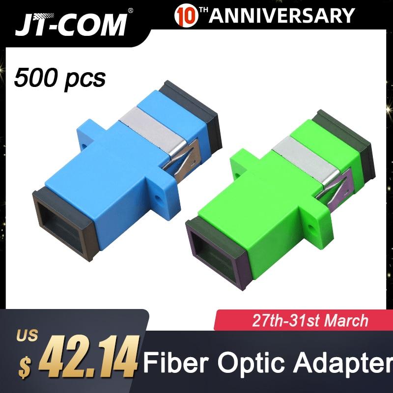 500pcs Telecom Grade SC/APC Optical Fiber Connector Adapter Flange SC/UPC SM Singlemode Simplex SC-SC Coupler Special Wholesale