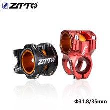 Ztto mtb bicicleta haste de 0 graus dh am enduro haste 35/50mm comprimento mountain bike stem 28.6 steerer cnc para 35mm/31.8mm guiador