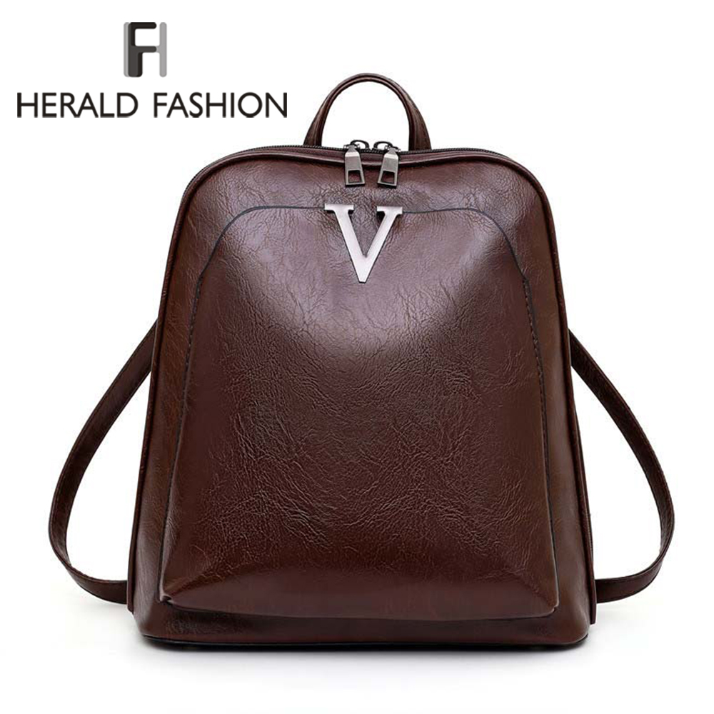 2020 Fashion Travel Women Backpack PU Leather Zipper Lady Schoolbag Anti Theft Camping Casual Female Ladies School Backpack