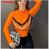 Laranja longo de mangas compridas camisa ciclismo skinsuit 2020 mulher ir pro mtb bicicleta roupas opa hombre macacão 9d gel almofada skinsuit 7